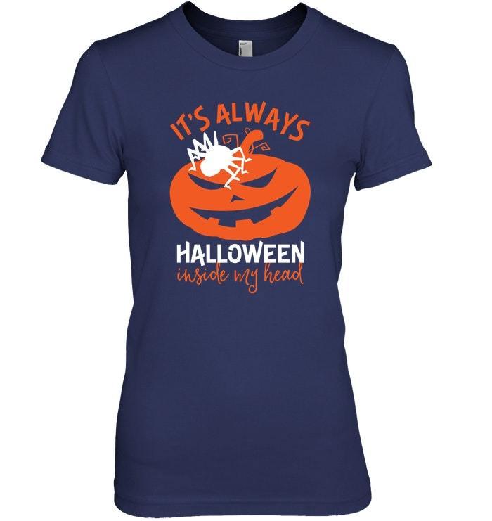 Funny Pumpkin Sweater Its Always Halloween Inside My Head
