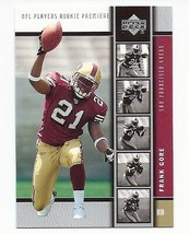 FRANK GORE 2005 UPPER DECK ROOKIE PREMIERE ROOKIE CARD! 49'ERS SUPER BOW... - $1.95