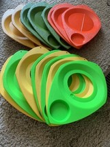 Set of 16 Vintage WILPAK No. 1000 Plastic Picnic Plate Cup Holders Multi... - €31,09 EUR