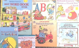 Richard Scarry Books for Kids-Lot of 7-Early Bird-Word Book-Please & Tha... - $12.58