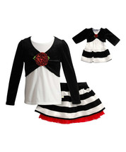 Dollie Me Girl 5 6 12 and Doll Matching Mock Top Skirt Clothes fit Ameri... - $29.99