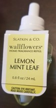 NEW Bath & Body Works Wallflowers LEMON MINT LEAF Fragrance Refill Bulb - $8.59