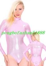 Sexy Short Body Suit Pink Shiny Metallic Body Suit Catsuit Costumes Unisex S834 - $32.99