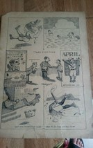 Early Original Antique Comic Cartoon Art F.A. Welch. 1917. Full Page. #4 - $94.05