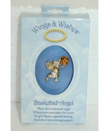 DM Merchandising Wings Wishes Basketball Angel Gold Silver Colored Holdi... - $8.94