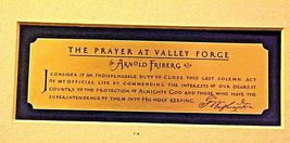 Washington The Pray Praying at Valley Forge AA19-1550 Vintage Painting & Frame image 8