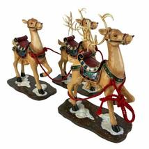 3 Wood Reindeer Christmas Collective Decorative Figures Home Decor Holid... - $33.74