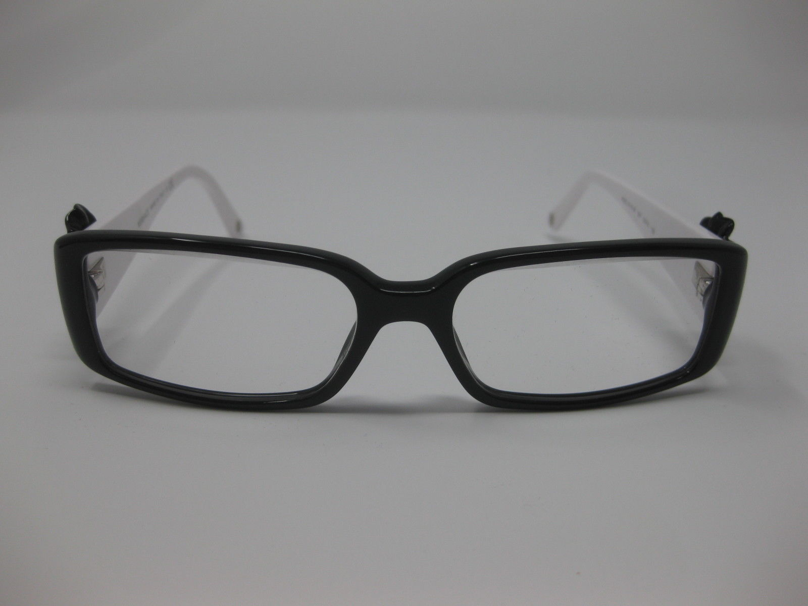 c22223891a105 Versace 3115-B Eyeglasses Frames Crystal Flower Demo Lens 52 15 135 Black  White
