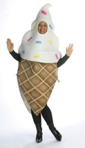 Ice Cream Cone Costume Adult Food Dessert Sweets Halloween Party Unique ... - £45.86 GBP