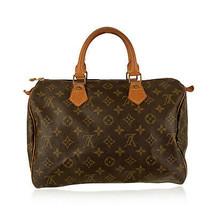 Authentic Louis Vuitton Vintage Brown Monogram Canvas Handbag Speedy 30 Bag - $667.20 CAD