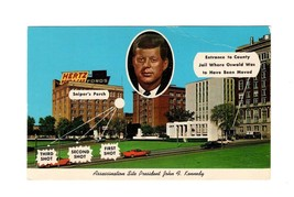 PICTURE POSTCARD- ASSASSINATION SITE-PRESIDENT JOHN F. KENNEDY  BK11 - $3.40