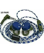 10 TEN! New UrbanEars Reimers Trail Apple iPhone Blue White earbuds 10 W... - $54.88