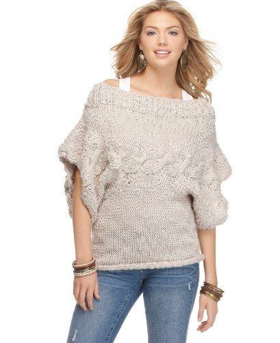 Jessica Simpson Women's Boat Neck Sweater Dark Purple X-Large