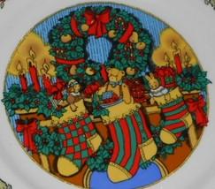 Set (4) Trisa CHRISTMAS MEMORIES PATTERN Dinner Plates HOLIDAY - CHRISTMAS - $29.69
