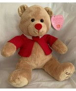 Godiva Gund 2016 Valentine's Day Plush Tan Teddy Bear Stuffed W/Tags - $14.84