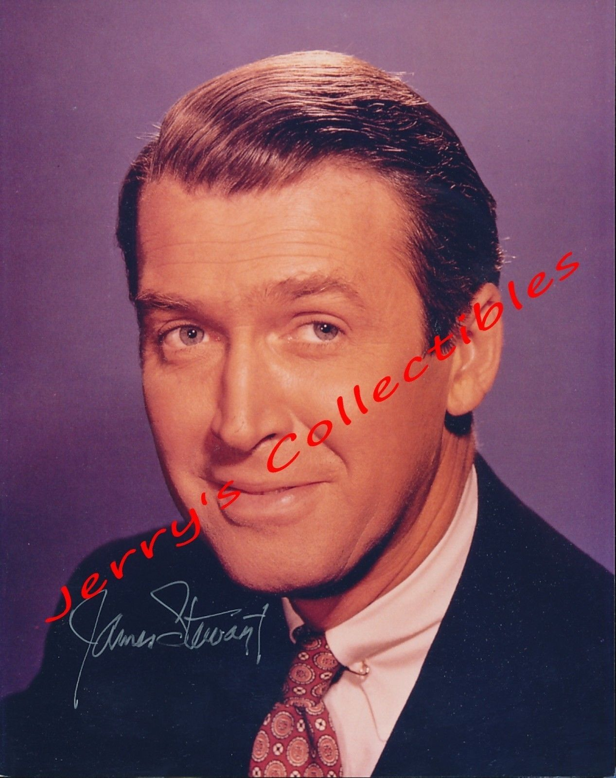 Primary image for James Stewart signed color bust photo. Stunning !