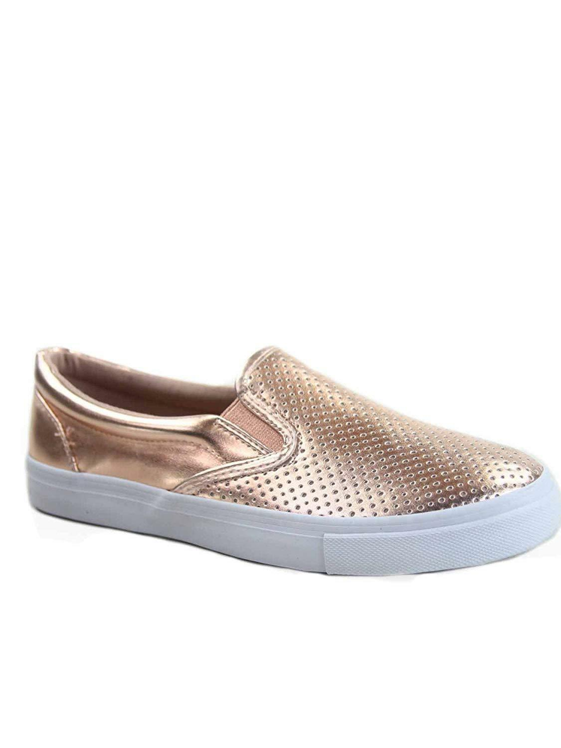 Soda Tracer-S Women's Cute Perforated Slip On Flat Round Toe Sneaker Shoes image 5