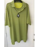 Bobby Jones Mens bright green Gray X-H20 size XL Golf Polo Shirt NWT - $21.23