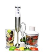 Ovente Hand Immersion Blender, Stainless Steel, Variable Speed, 500 Watts, - £42.56 GBP