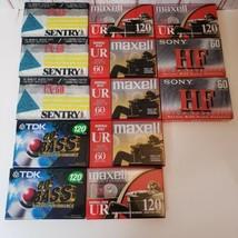 lot of 13 SEALED TDK Maxell Sentry Sony Blank Cassette Tapes  - $28.71
