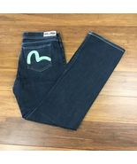 Evisu x Puma Womens Size 30x32 Dark Wash Distressed True Love Blue Jeans... - $32.42
