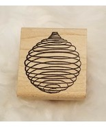 Alias Smith & Rowe Spiral Ball Christmas Wood Mounted Rubber Stamp ▪New - $5.86
