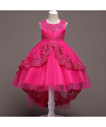 Rose Colored Dress For Girls Flower Girl Pageant Birthday Party Princes... - £45.81 GBP