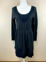 Saturday Sunday Anthropologie S Ellie Navy Blue French Terry Embroidered... - $19.99