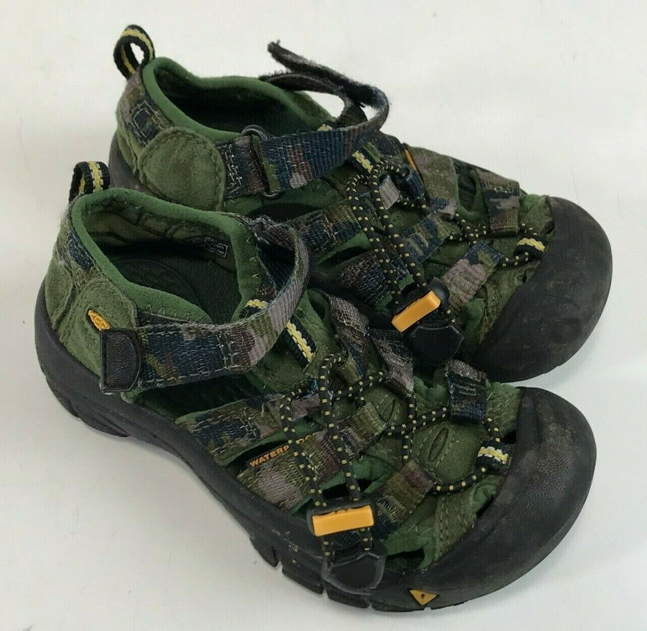 Boys KEEN Newport H2 Water SandalS Green Camo Camouflage, Toddler 11