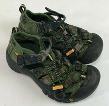Boys KEEN Newport H2 Water SandalS Green Camo Camouflage, Toddler 11 - $19.79