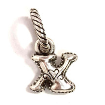 Authentic Brighton ABC Letter X Charm, J9062X, Silver Finish, New - $8.47