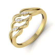 Beautiful Diamond Anniversary Ring Solid 14k Yellow Gold Womens Engageme... - $499.99