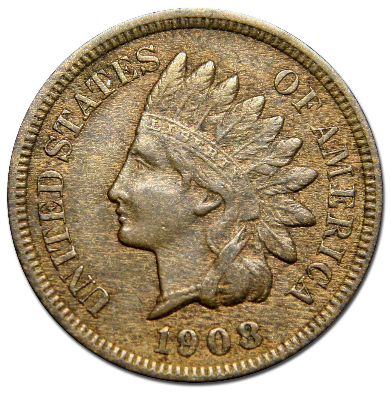 1908S One Cent Indian Head Penny Coin Lot# MZ 2656