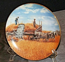 """""""Harvesting At Last"""" Collector's Plate by Emmett Kaye AA20-CP2308AA Farming the"""