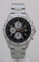 Seiko mens watches weekend chrono tachymeter black dial arabic numbers S... - $167.71