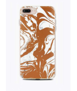 End Scene iPhone 8/7/6s/6 Plus Case, Copper Marble Swirl New sealed - $11.69