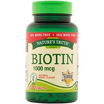 Nature's Truth Biotin 1,000mcg Tablets, 120 Count