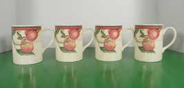 Johnson Brothers AUTUMN GROVE Coffee Mug Cup (s) LOT OF 4 Fruit Pattern - $39.55