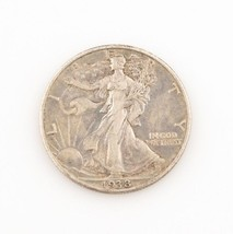1938-D 50¢ Walking Liberty Half Dollar, XF Condition, Medium Gray Color, Detail! - $163.34
