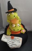 Hallmark Halloween Stew Frog Animated Lights Motion Witch Black Cauldron Pot - $12.14