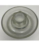 Vintage Clear Glass Poultry Chicken Waterer Base No. 569 Pat. Applied Fo... - $12.19