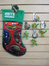 TEENAGE MUTANT NINJA TURTLES Christmas Stocking & 4 Ornaments - New with... - $34.95