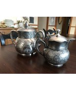 Ornate Pairpoint New Bedford 324 Quadruple Covered Pot Handle and creame... - $44.54