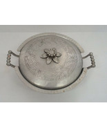vintage everlast forged aluminum handle bowl with floral design lid cover  - £9.26 GBP