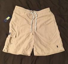 Polo Ralph Lauren Mens Swim Trunks Board Shorts Sz M khaki - $25.99