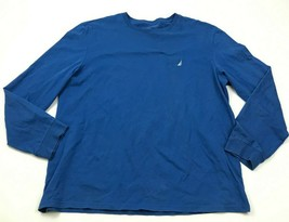 Nautica Shirt Size Extra Large XL Blue Long Sleeve Tee White Sail Boat A... - $17.83