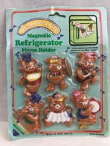 Bear Band Vintage Magnetic Memo Holders Set Of 6 Collectible - $5.54