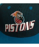 Detroit Pistons NWT Vintage NBA Logo Athletic Late 90'S Snap Back Hat Ca... - $29.66