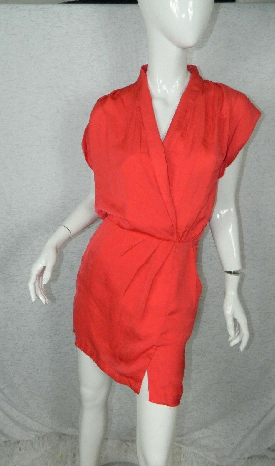 BCBG Generation Dress Orange Back Cutout  Size 2