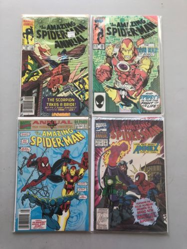 Lot of 4 Amazing Spider-Man (1963 1st Series) Annual #18 20 25 27 VF Very Fine